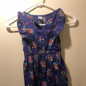 Girls blue floral dress